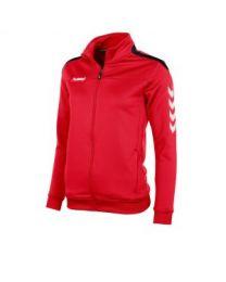 Hummel Valencia Top Full Zip Dames Rood Zwart