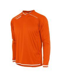 Hummel Leeds Shirt LM Oranje Wit