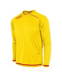 Hummel Leeds Shirt LM Geel Rood