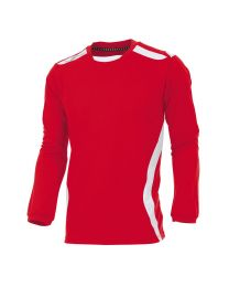 Hummel Club Shirt LM Rood Wit