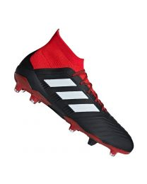 Adidas PREDATOR 18.1 FG CBLACK/FTWWHT/RED