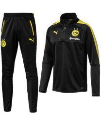 PUMA Borussia Dortmund 1/4 Trainingstrui 2017-2018 KIDS Puma Black Cyber Yellow