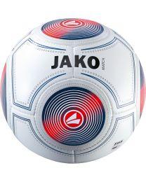 JAKO Wedstrijdbal Match 14 p./handgenaaid wit/marine/flame