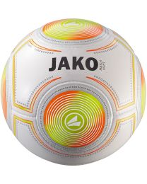 JAKO Lightbal Match 14 p./handgenaaid wit/fluo oranje/fluo geel-350g