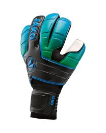 JAKO Keeperhandschoen Champ One RC zwart/fluo groen/JAKO blauw