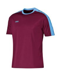 JAKO Shirt Striker KM bordeaux/hemelsblauw