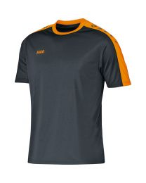 JAKO Shirt Striker KM antraciet/fluo oranje