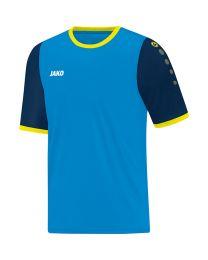 JAKO Shirt Leeds KM JAKO blauw/navy/fluogeel