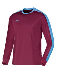JAKO Shirt Striker LM bordeaux/hemelsblauw