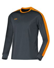 JAKO Shirt Striker LM antraciet/fluo oranje