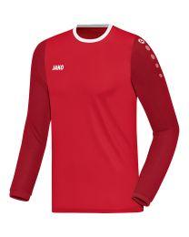JAKO Shirt Leeds LM rood/donkerrood