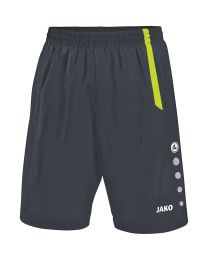 JAKO Short Turin antraciet/lime