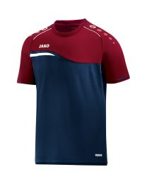 JAKO T-shirt Competition 2.0 marine/donker rood