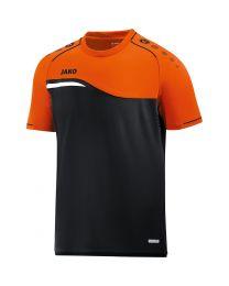 JAKO T-shirt Competition 2.0 zwart/fluo oranje