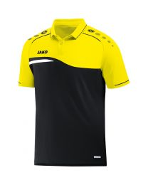 JAKO Polo Competition 2.0 zwart/fluo geel
