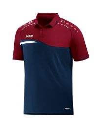 JAKO Polo Competition 2.0 marine/donker rood