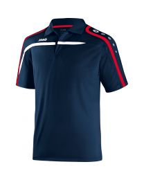 JAKO Polo Performance marine/wit/rood