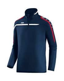 JAKO Ziptop Performance marine/wit/rood