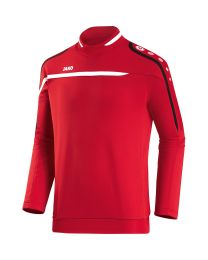JAKO Sweater Performance rood/wit/zwart