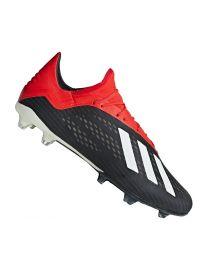 Adidas X 18.2 FG cblack/owhite/actred - cblack/owhite/actred