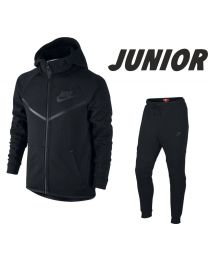 NIKE Tech Fleece Joggingsuit Junior Zwart