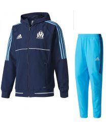 adidas Olympique Marseille Presentatie Trainingspak 2017-2018 Collegiate Navy