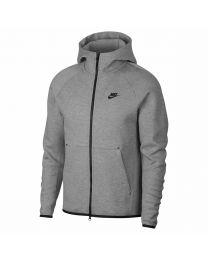 M Nsw Tch Flc Hoodie Fz 063 grey heather/black
