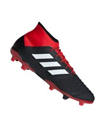 Adidas PREDATOR 18.2 FG CBLACK/FTWWHT/RED