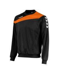 Hummel Elite Top Round Neck Zwart Oranje