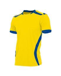 Hummel Club Shirt KM Geel Blauw
