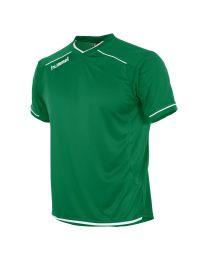Hummel Leeds Shirt KM Groen Wit