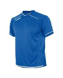 Hummel Leeds Shirt KM Blauw Wit