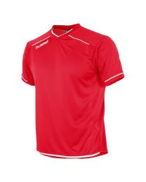 Hummel Leeds Shirt KM Rood Wit