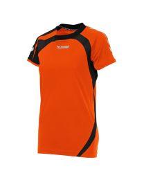 Hummel Odense Shirt Ladies KM Oranje Zwart