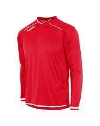 Hummel Leeds Shirt LM Rood Wit