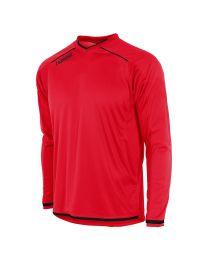 Hummel Leeds Shirt LM Rood Zwart