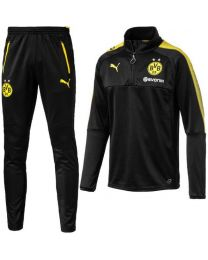 PUMA Borussia Dortmund 1/4 Trainingstrui 2017-2018 KIDS Puma Black Cyber Yellow
