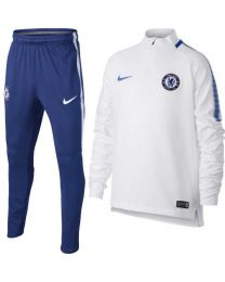 Nike Chelsea Dry Squad Drill Trainingspak 2017-2018  White Rush Blue
