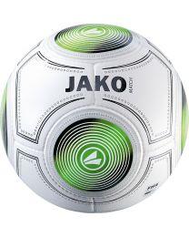 JAKO Wedstrijdbal Match 14 p./handgenaaid wit/zwart/groen
