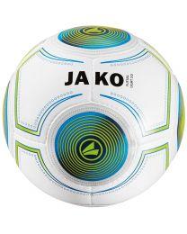 JAKO Bal Futsal Light 14 p./handgenaaid wit/JAKO blauw/fluo groen-290g