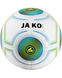 JAKO Bal Futsal 3.0 14 p./handgenaaid wit/JAKO blauw/lime-420g