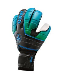 JAKO Keeperhandschoen Champ SuperSoft NC zwart/fluo groen/JAKO blauw
