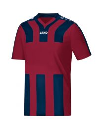 JAKO Shirt Santos KM wijnrood/navy
