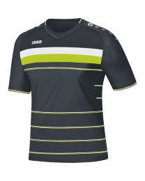 JAKO Shirt Champ KM antraciet/wit/lime