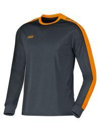 JAKO Shirt Striker LM antraciet/fluo oranje
