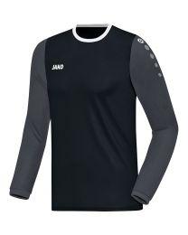 JAKO Shirt Leeds LM zwart/antraciet