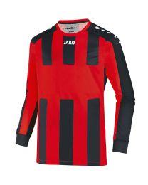 JAKO Shirt Milan LM rood/zwart