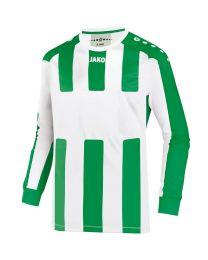 JAKO Shirt Milan LM wit/sportgroen