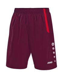 JAKO Short Turin bordeaux/rood