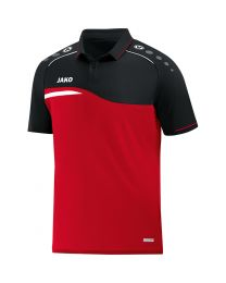 JAKO Polo Competition 2.0 rood/zwart
